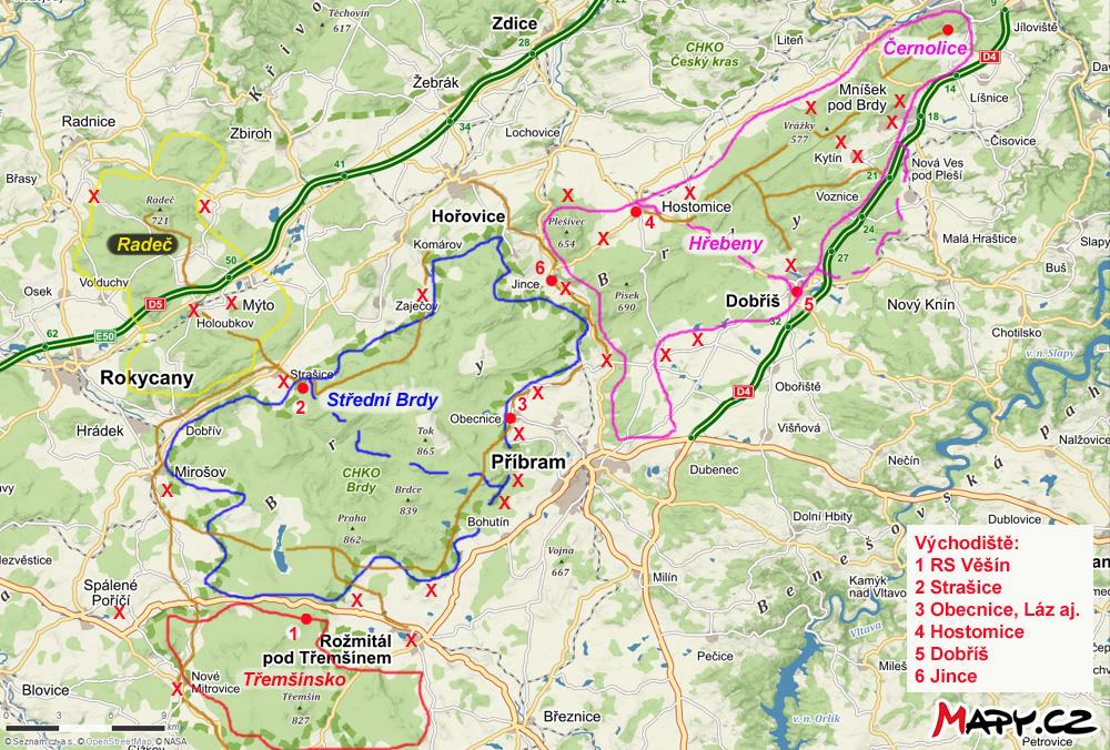 Mapa Mapa Brdskych Kempu